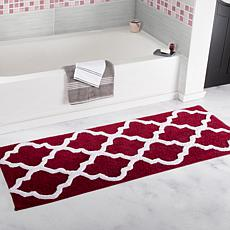 Lavish Home 100% Cotton Trellis Bathroom Mat - 2' x 5'