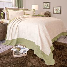 Lavish Home 2-piece Jeana  Embroidered Quilt Set - Twin