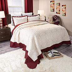 Lavish Home 2-piece Juliette Embroidered Quilt Set - Tw