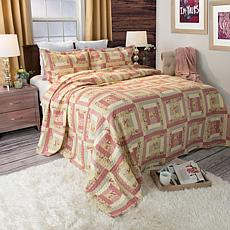 Lavish Home 2-piece Melissa Quilt Set - Twin