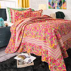 Lavish Home 2-piece Paisley Quilt Set - Twin