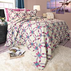 Lavish Home 2pc Wedding Ring Quilt Set - Twin