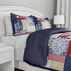 Lavish Home 3pc Patriotic Americana Quilt Set - King