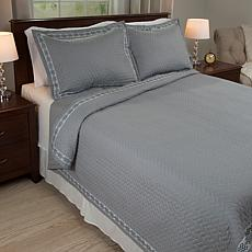 Lavish Home 3pc Valencia Quilt Set-Full/Queen