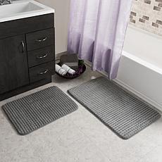 FlexPay Bathroom Rugs & Mats | HSN on burgundy and green bathroom accessory set, burgundy carpet bathroom set, microfiber bathroom rug set, wood bathroom set, toilet set, natural bathroom set, plush bathroom set, full bathroom set, memory foam bathroom mat, bamboo bathroom set, disney bathroom set,