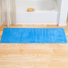 "Lavish Home Memory Foam Striped  Bath Mat - 24"" x 60"""