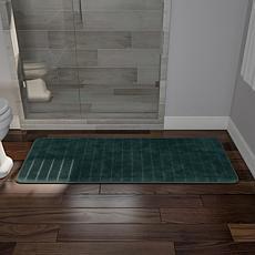Lavish Home Memory Foam Striped Extra-Long Bath Mat - 2
