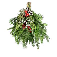 "Leaf & Petal Designs 18"" Mixed Evergreen Swag"