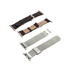 Leather & Stainless-Steel Band 2pk - 42mm Apple Watch®