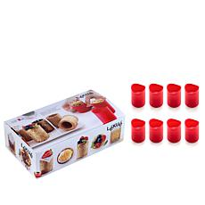 Lekue Set of 8 Silicone Cookie Shot Glass Molds