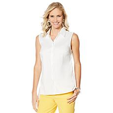 Lemon Way On-the-Go Wrinkle Resistant™ Sleeveless Button-Down Shirt