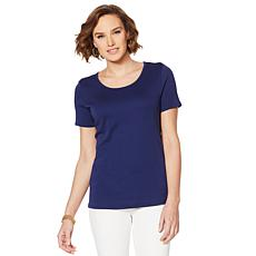 Lemon Way Perfect Pima Scoop-Neck Tee
