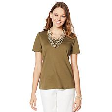 Lemon Way Perfect Pima Scoop-Neck Tee - Muted Colors