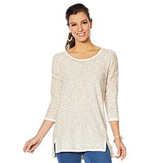 Lemon Way Slub Knit Tunic Sweater
