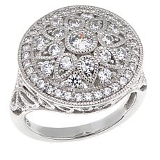 "Leslie Greene 0.97ctw CZ ""Captiva"" Floral Ring"