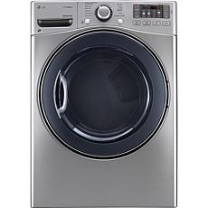 LG 7.4 Cu. Ft. Electric SteamDryer - Graphite Steel