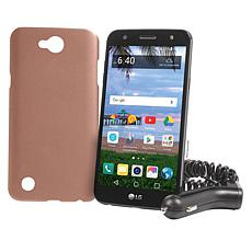 "LG Fiesta 2 5.5"" 16GB Tracfone Prepaid Phone with 1200 Min/Text/Data"
