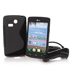 LG Lucky Android TracFone + 600 Min, Texts, Data & Case