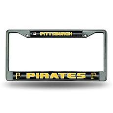 License Plate Frame with Bling - Pittsburgh Pirates