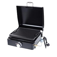 """Lifesmart 17"""" Single Burner Reversible Grill Griddle Deluxe Bundle"""