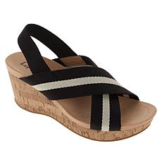 LifeStride Dream Big Stretch Gore Wedge Sandal
