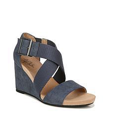 LifeStride Hayden Ankle Strap Wedge Sandal