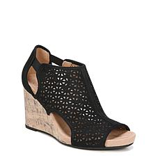 LifeStride® Hinx 2 Perforated Peep-Toe Wedge Sandal