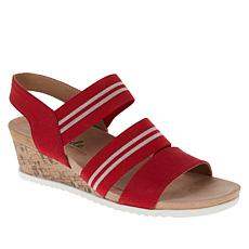 LifeStride Sunshine Cork Wedge Stretch Sandal