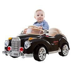 Lil' Rider Battery-Operated Classic Car with Remote - Black