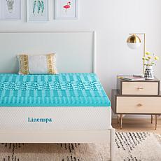 "Linenspa Essentials 2"" 5-Zone Gel Memory Foam Mattress Topper-Twin"