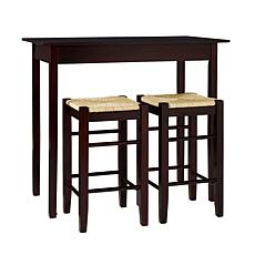 Linon Home Cassie 3-piece Tavern Set - Black