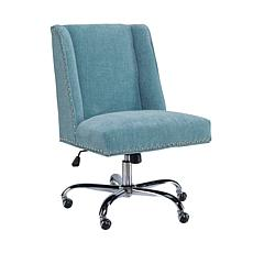 Linon Home Nash Aqua Office Chair - Aqua
