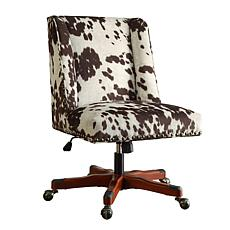 Linon Home Nash Udder Madness Milk Office Chair - Brown
