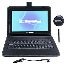 "LINSAY® 10.1"" Quad-Core 8GB Android Tablet Bundle"