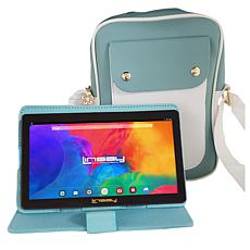 """LINSAY 7"""" 2GB RAM 32GB Android 10 Tablet Bundle - Lovely Blue Sky"""