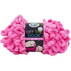 Lion Brand Off The Hook Glitz Yarn - Bubblegum