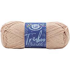 Lion Brand Truboo Sparkle Yarn - Sugar Cookie