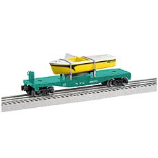 Lionel New York Central O Gauge Model Train Flatcar with Boat Load