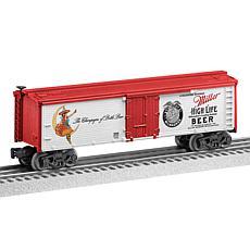 Lionel Trains Miller High Life O Gauge Model Train Reefer Car