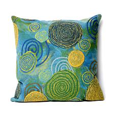 "Liora Manne 20"" Square Graffiti Swirl Pillow - Cool"