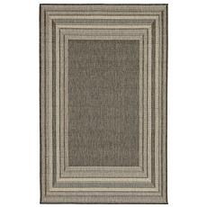 "Liora Manne Terrace Etched Border Rug - Grey - 4'10"" x 7-1/2'"