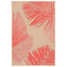 "Liora Manne Terrace Palm 23"" x 35"" Rug - Coral"