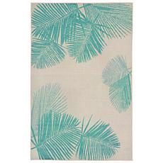 "Liora Manne Terrace Palm 39"" x 59"" Rug - Turquoise"