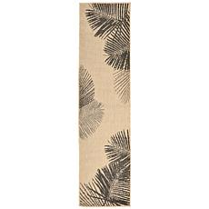 "Liora Manne Terrace Palm Rug - Neutral - 23"" x 7-1/2'"