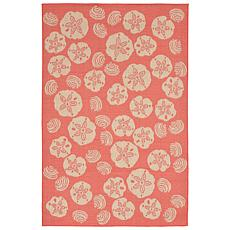 "Liora Manne Terrace Shell Toss Rug - Coral - 4'10"" x 7-"