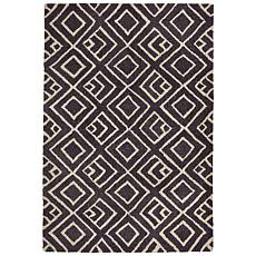 "Liora Manne Wooster Kuba Rug - Charcoal - 42"" x 66"""