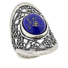 LiPaz Filigree Frame Sterling Silver Lapis Ring