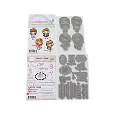 Little Darlings CandiBean Blossom Girls Rubber Stamps