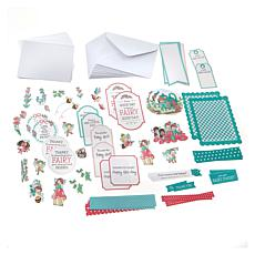 Little Darlings Fairy Fun Card Die-Cut  Kit Set