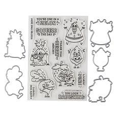 Little Darlings Fruit and Veggie Stamp and Die Set